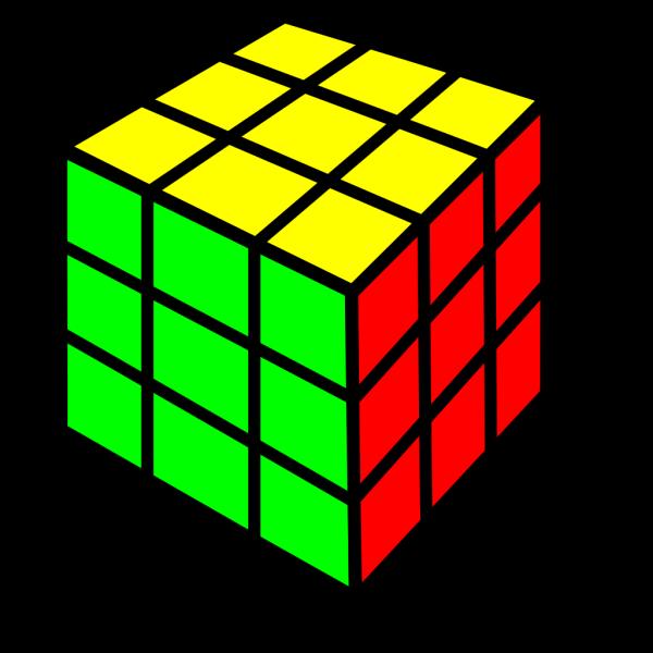 Rubik Cube Game PNG Clip art