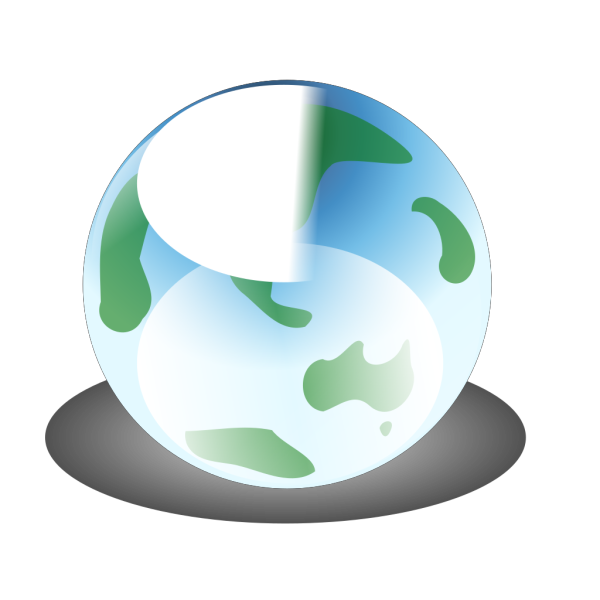 Recylcle Blue Crystal Earth Globe PNG Clip art