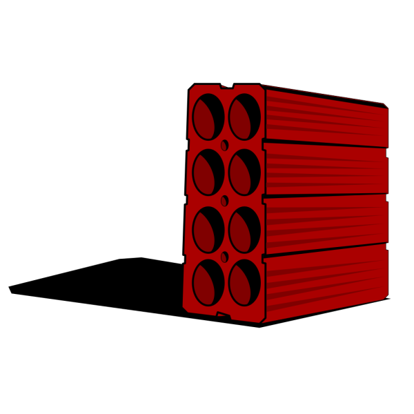 Red Construction Brick PNG Clip art