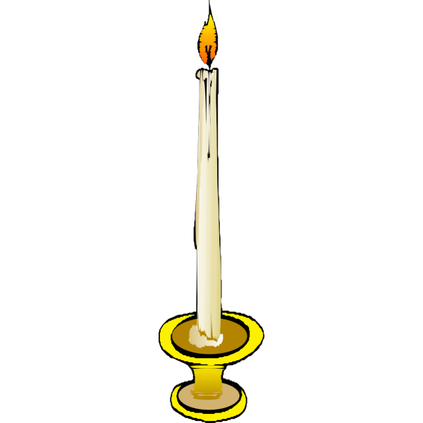 Candle On Holder PNG clipart