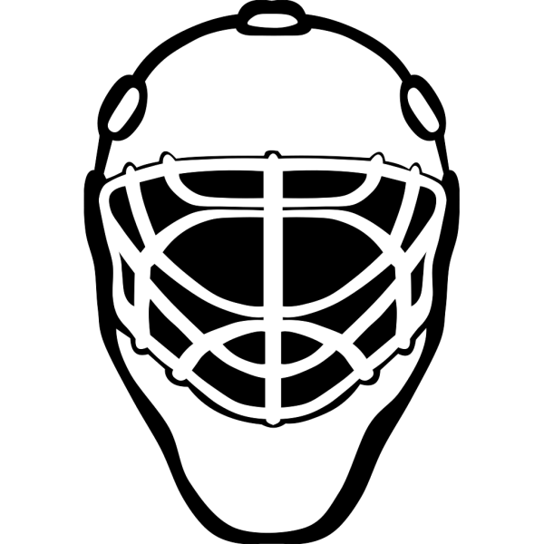Goalie Mask Simple Outline PNG Clip art