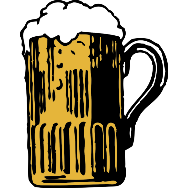 Foamy Mug Of Beer PNG Clip art