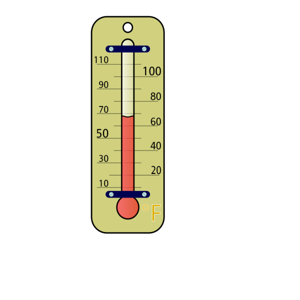 Room Thermometer With Fahrenheit Skala PNG Clip art