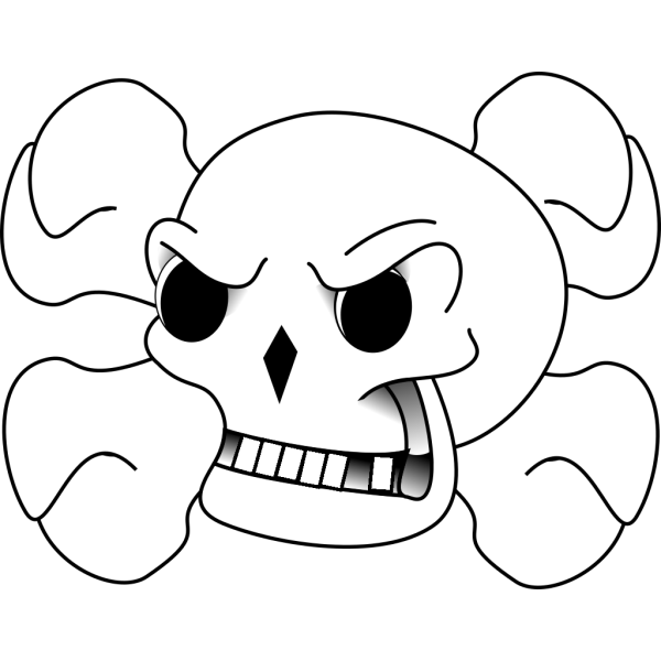 Skull And Bones PNG Clip art