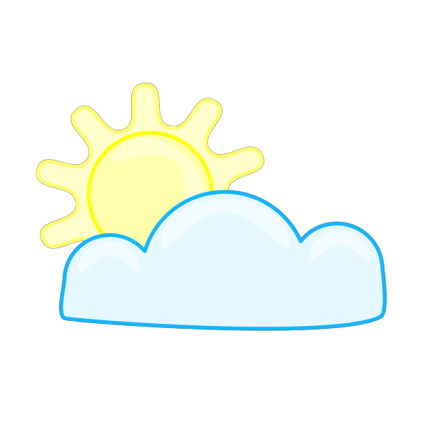 Slightly Cloudy PNG Clip art