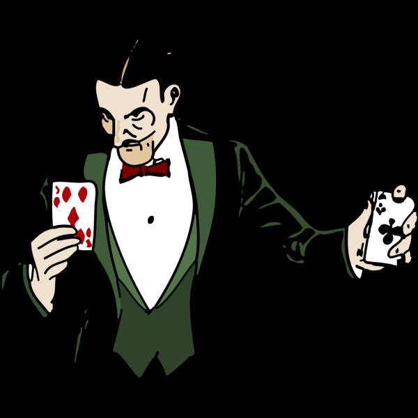 Magician Card Trick PNG Clip art
