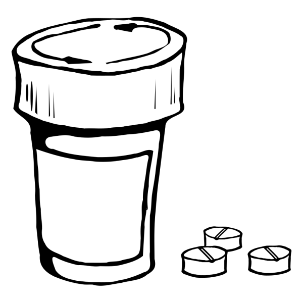 Pills And Bottle PNG Clip art