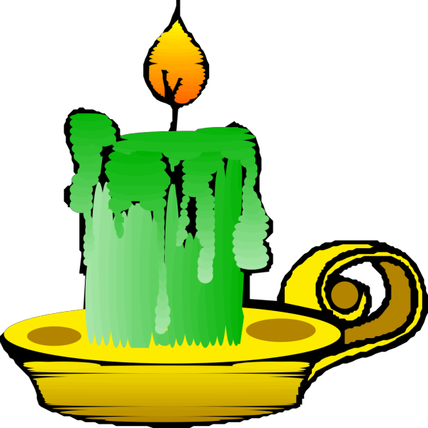 Green Candle PNG Clip art