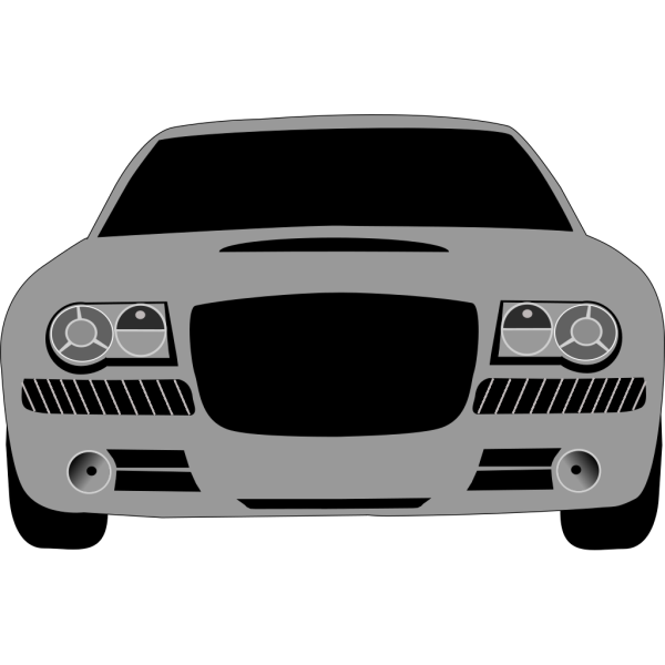 Grey Sports Car PNG Clip art