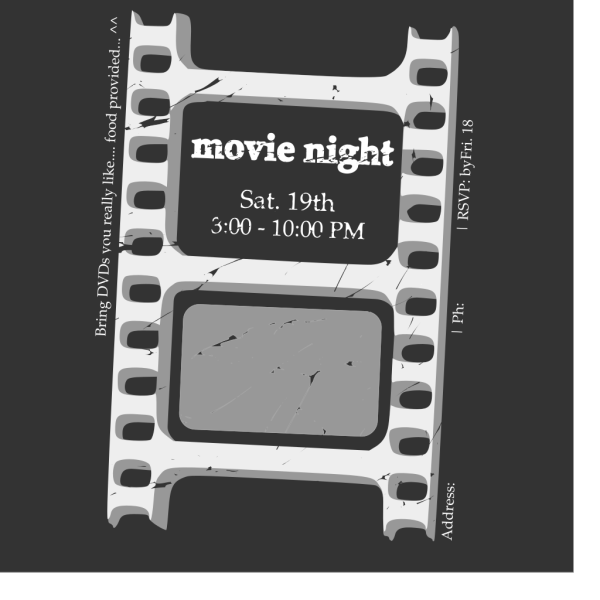 Movie Night Ticket PNG Clip art
