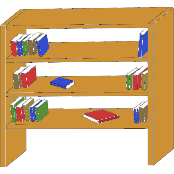 Furniture Library Shelves Books PNG Clip art