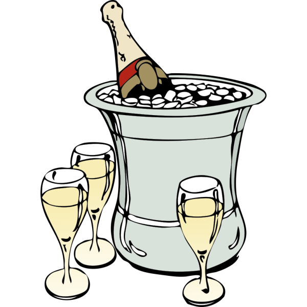 Champagne On Ice PNG Clip art