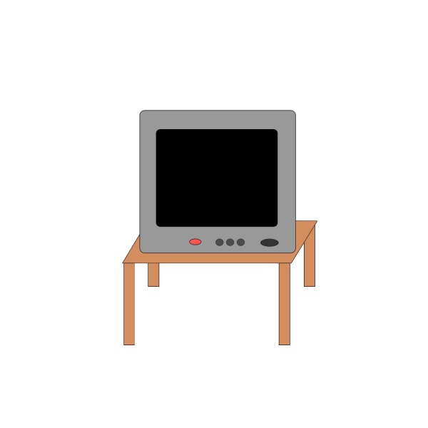 Television On A Table PNG Clip art