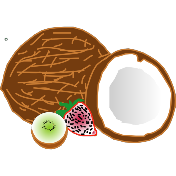 Coconuts Kiwi Strawberry PNG Clip art