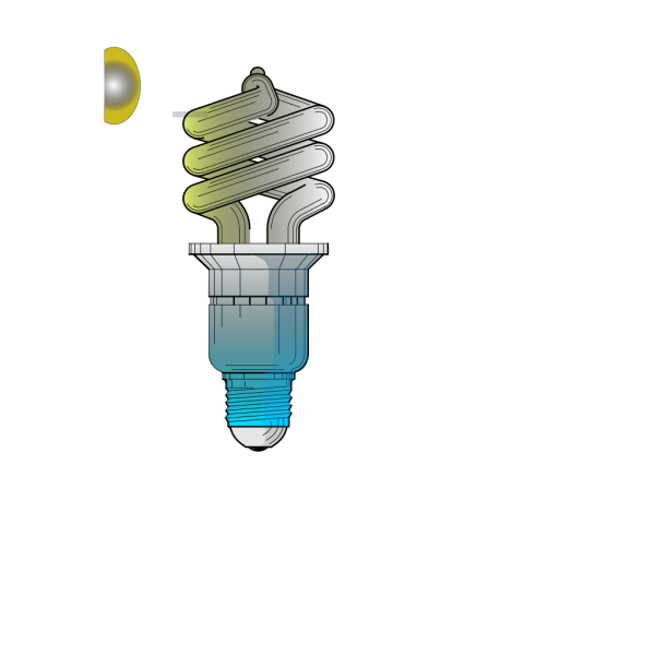 Compact Fluorescent Light Bulb PNG Clip art