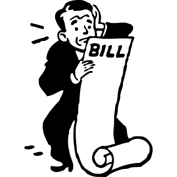 Worried About A Bill PNG Clip art