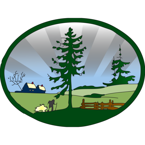 Country Scene PNG Clip art