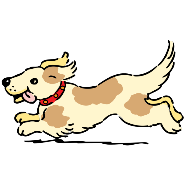 Happy Running Dog PNG images