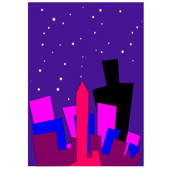 Cityscape At Night PNG Clip art