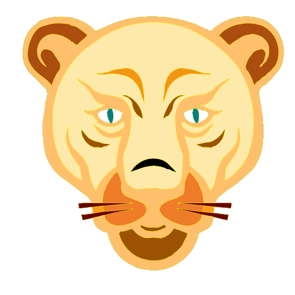 Lion Face Cartoon PNG Clip art