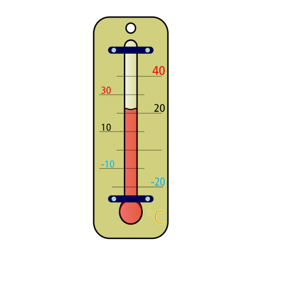 Room Thermometer With Celsius Skala PNG Clip art