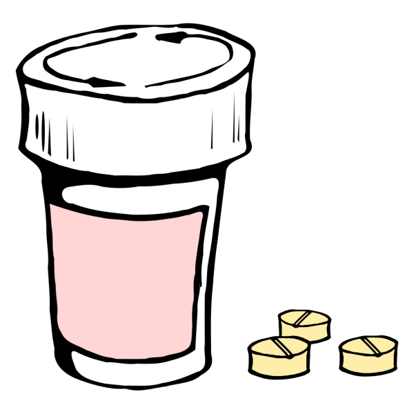 Pills And Bottle 2 PNG Clip art