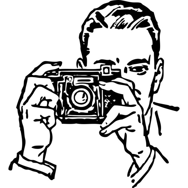 Man With A Camera PNG Clip art