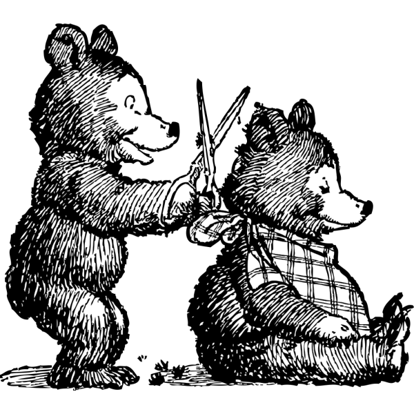 Bear Gets Haircut PNG Clip art