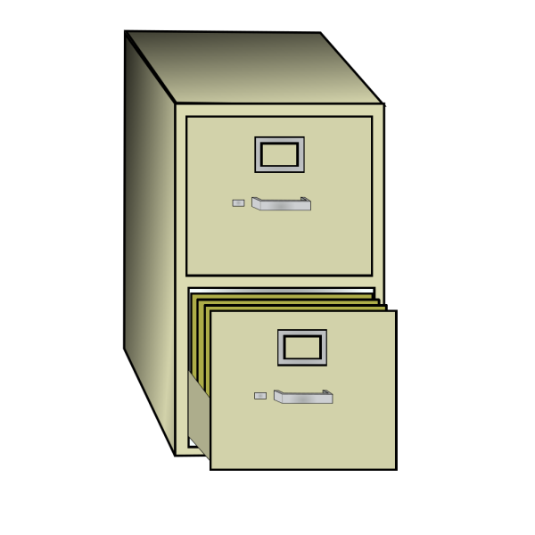 Metal File Cabinet PNG Clip art