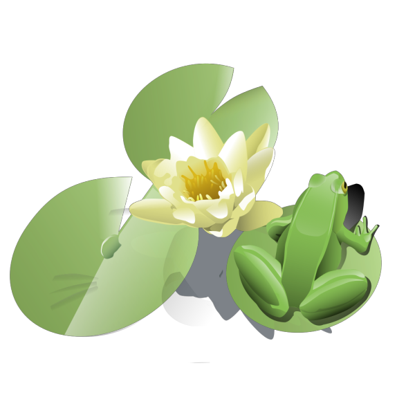 Leland Mcinnes Frog On A Lily Pad PNG Clip art