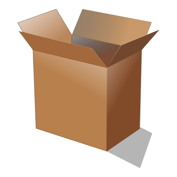 Open Cardboard Box PNG images
