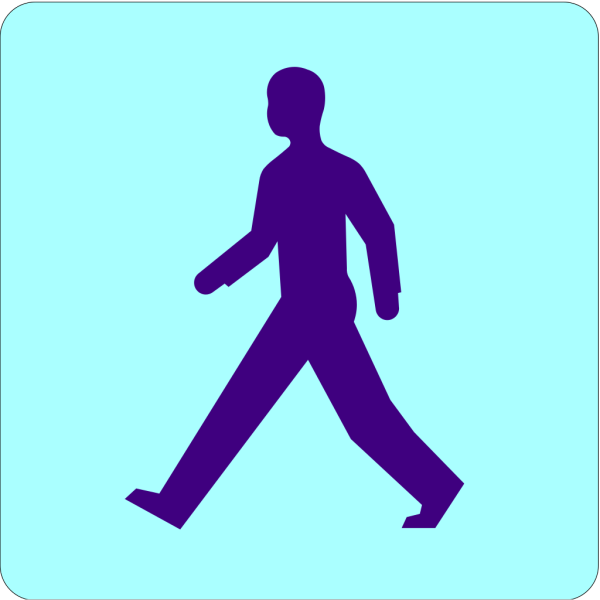 Man Walking Sunny Day PNG images