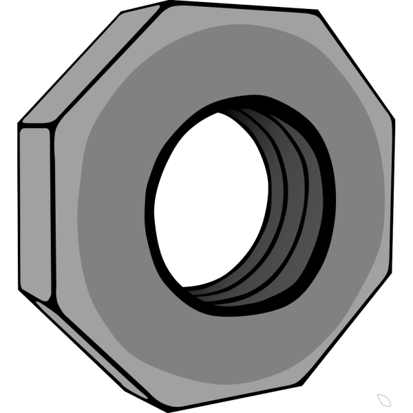Hex Nut PNG clipart