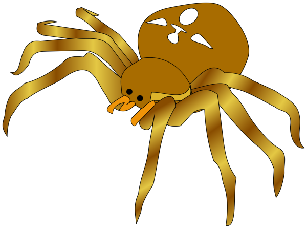 Hanging Spider Cartoon PNG Clip art