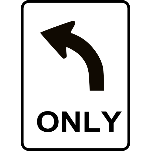 Left Only Direction PNG images