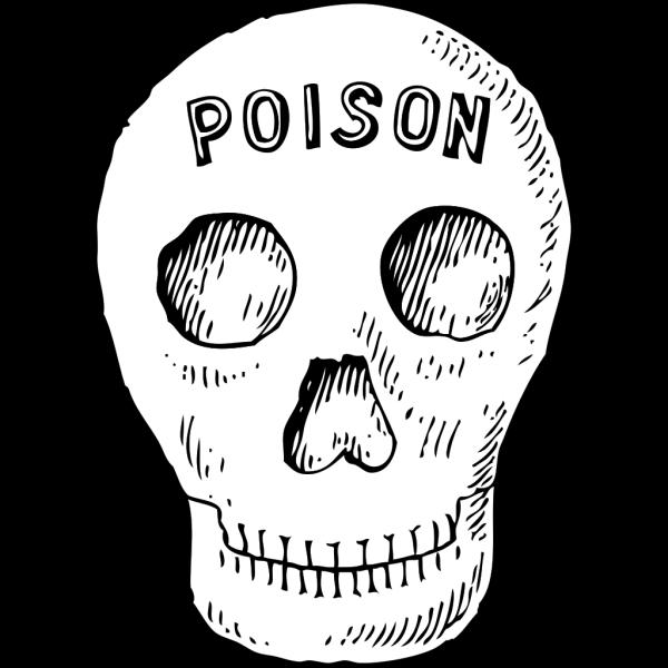 Poison Skull PNG Clip art