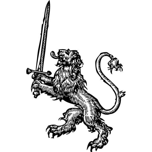 Lion With Sword PNG Clip art