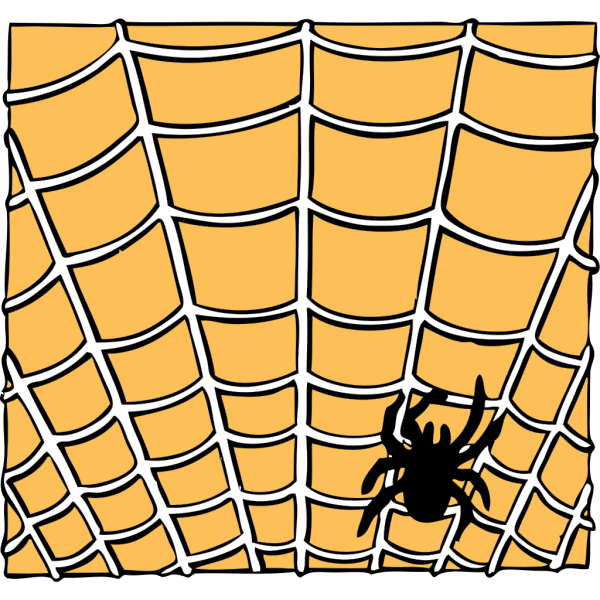 Spider On A Spider Web PNG Clip art