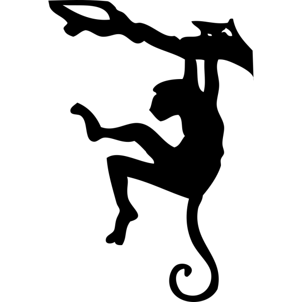 Monkey Sihouette PNG Clip art
