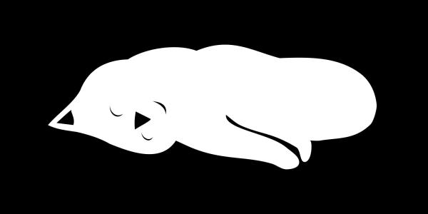 Sleeping Cat 4 PNG Clip art
