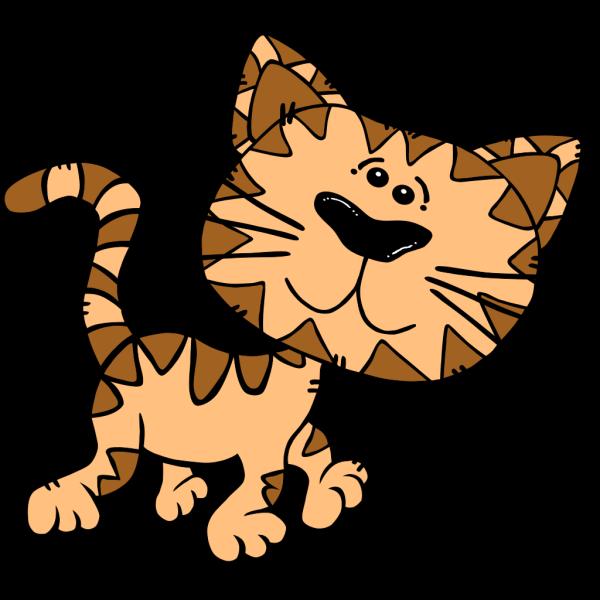 Cartoon Cat Walking PNG Clip art
