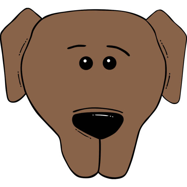 Dog Face Cartoon World Label PNG Clip art