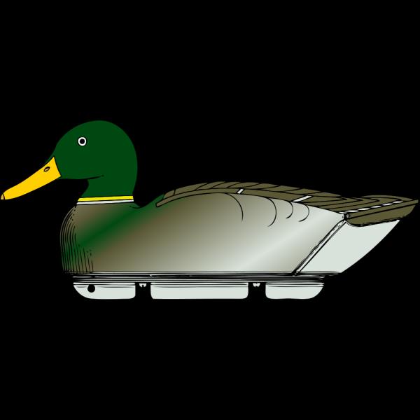 Duck Decoy Side View PNG Clip art
