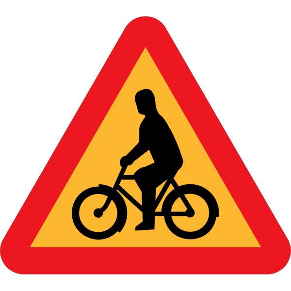 No Bicycles Roadsign PNG Clip art