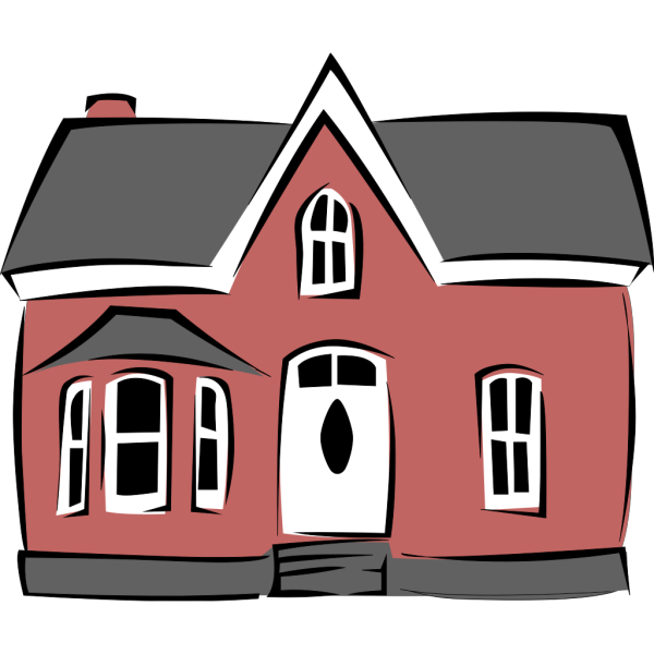 Colonial House PNG Clip art