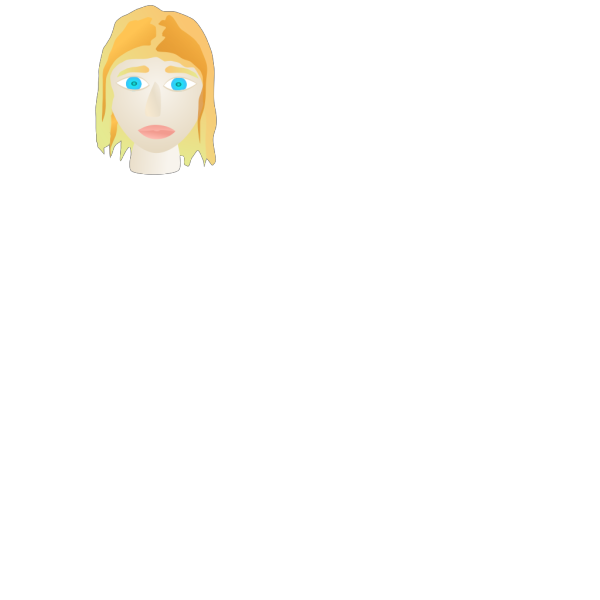 Smiling Girl Face PNG Clip art