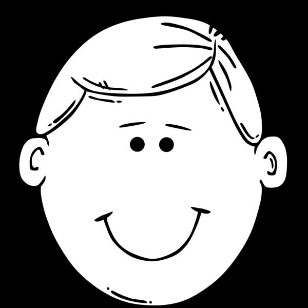 Man Face World Label Outline 5 PNG Clip art