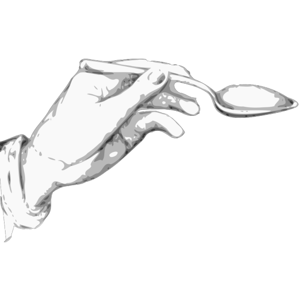 Hand Holding A Spoon PNG Clip art