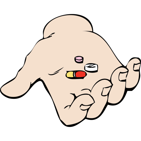 Hand And Pills PNG icons