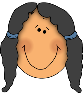 Girl Face Cartoon PNG Clip art